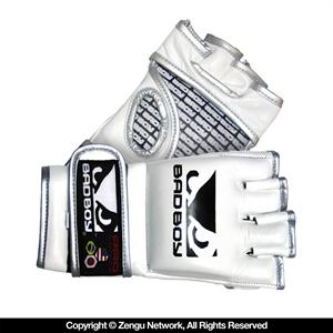 Bad Boy Pro Series White MMA Gloves